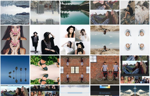 Layout, Instagram mise en page