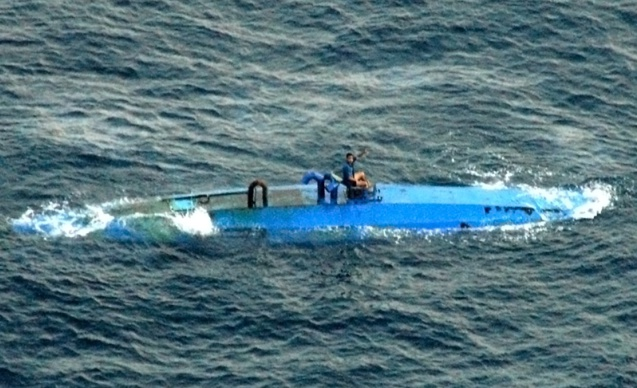 """""""Narco-sous-marin"""" saisi en 2010 en Equateur (Licence CC)"""