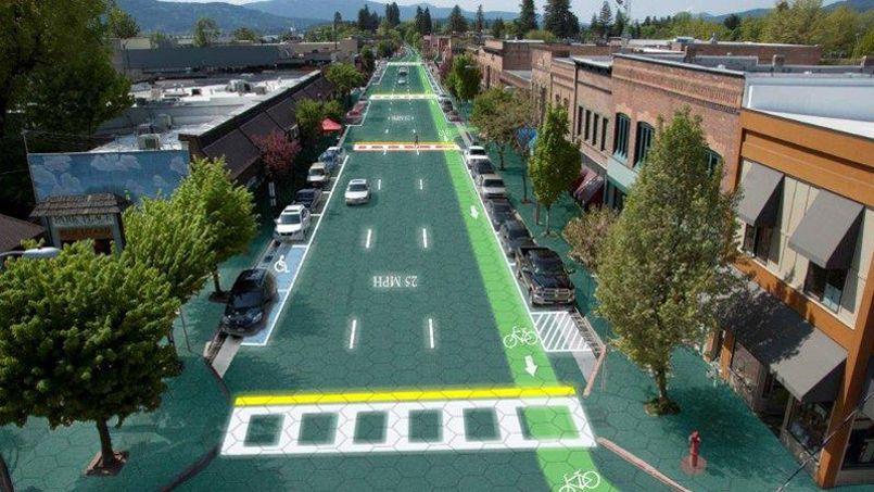 Aux États-Unis, «Solar Roadways», un projet identique