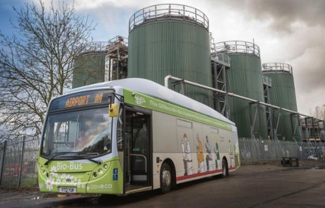 Un bus anglais qui roule au biométhane