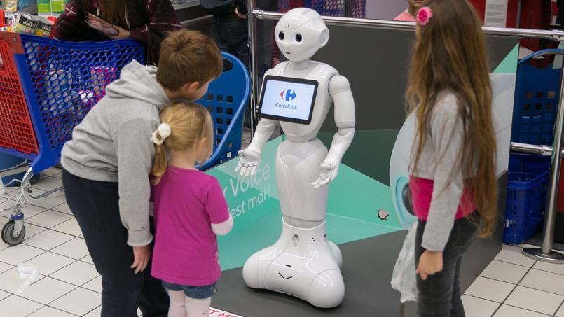 Le robot Pepper chez Carrefour