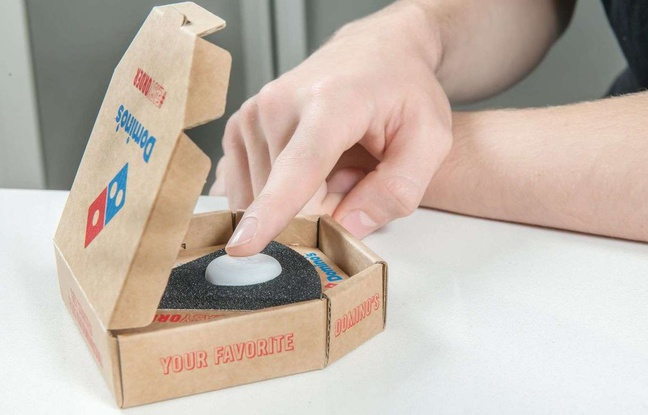 Commander une pizza en bougeant à peine le petit doigt